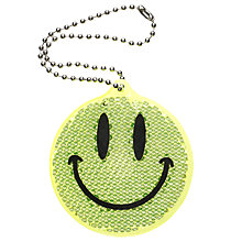 Buy Smiley Face Reflector Tag, Yellow Online at johnlewis.com