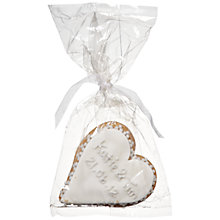 Buy Image on Food Personalised Heart Gingerbread Biscuit, Silver, Pack of 24 Online at johnlewis.com