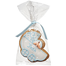 Buy Image on Food Personalised Baby Gingerbread Biscuit, Blue, Pack of 24 Online at johnlewis.com