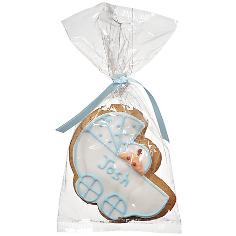 Buy Image on Food Personalised Baby Pram Gingerbread, Blue, Pack of 24 Online at johnlewis.com
