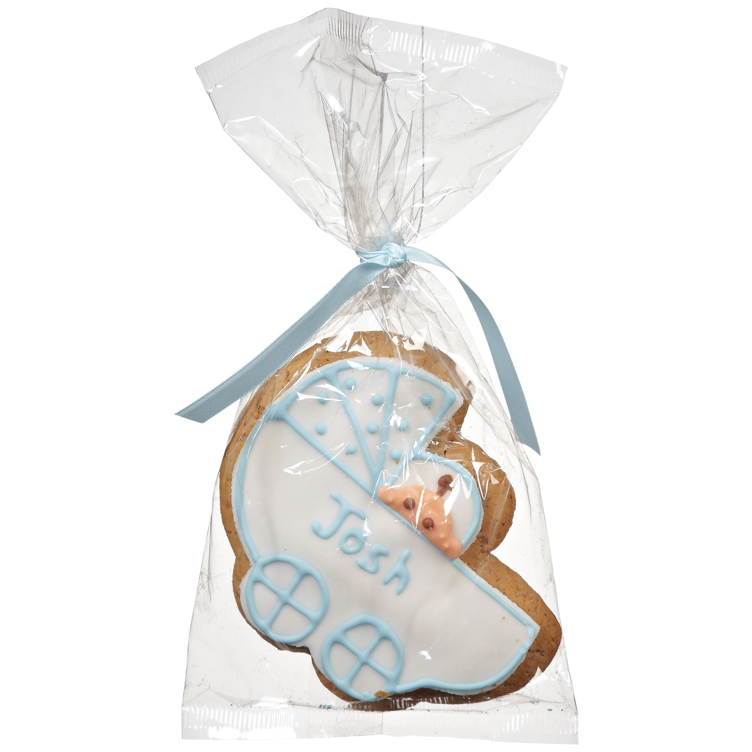 Image On Food Personalised Baby Gingerbread Biscuit, Blue, Pack Of 24