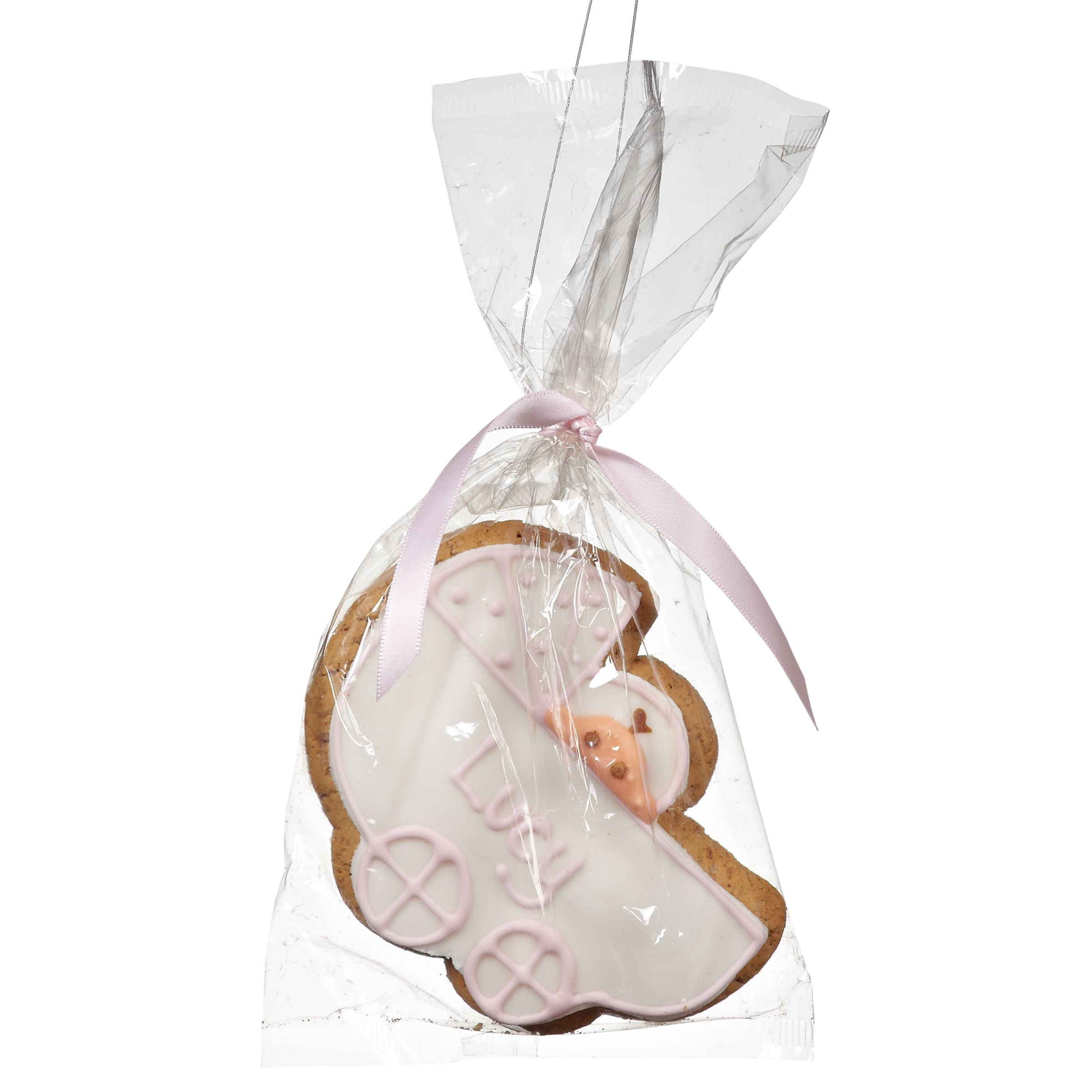 Image On Food Personalised Baby Gingerbread Biscuit, Pink, Pack Of 24