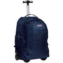 "Buy JanSport Driver 007 Wheeled 15"" Laptop Backpack, Navy Online at johnlewis.com"