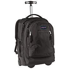 "Buy JanSport Driver 8 Wheeled 15"" Laptop Backpack, Black Online at johnlewis.com"
