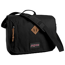 "Buy JanSport Heritage Crosstalk 15"" Laptop Messenger Bag, Black Online at johnlewis.com"