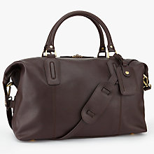 Buy John Lewis Oxford Leather Explorer Holdall, Brown Online at johnlewis.com