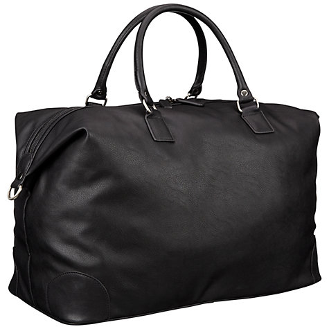 Buy John Lewis Amalfi PU Holdall, Black Online at johnlewis.com