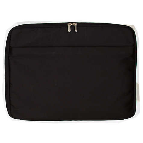 "Buy John Lewis Manhattan Leather 17"" Laptop Bag, Black Online at johnlewis.com"