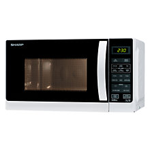 Buy Sharp R662WM Microwave Oven and Grill, White Online at johnlewis.com