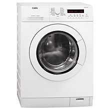 Buy AEG L75480WD Washer Dryer, 8kg Wash/6kg Dry Load, B Energy rating, 1400rpm Spin, White Online at johnlewis.com