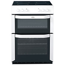 Buy Belling FSE60DO Electric Cooker, White Online at johnlewis.com
