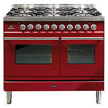 Buy Britannia SI-10T6-SLX-RED Sigma Dual Fuel Range Cooker, Velvet Red Online at johnlewis.com