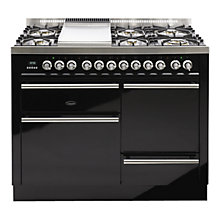 Buy Britannia SI-11XGC-DL-K Dynasty XG Dual Fuel Range Cooker, Gloss Black Online at johnlewis.com