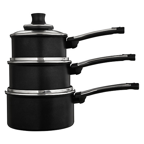 Buy Tefal Preference Pro 3 Piece Saucepan Set Online at johnlewis.com