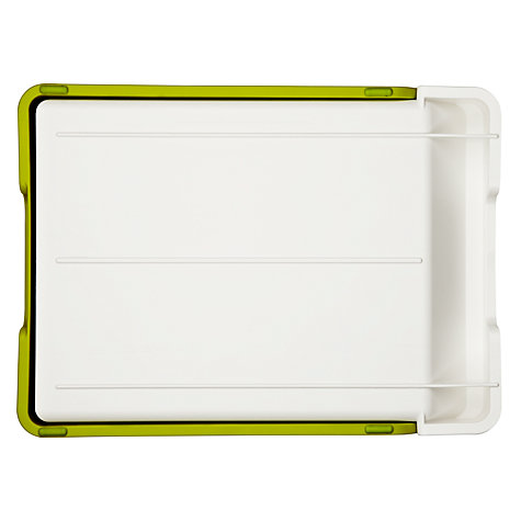 Buy Joseph Joseph Cut 'n' Collect Chopping Board, Green Online at johnlewis.com