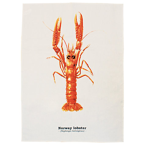 Buy Pisces Lobster Tea Towel Online at johnlewis.com