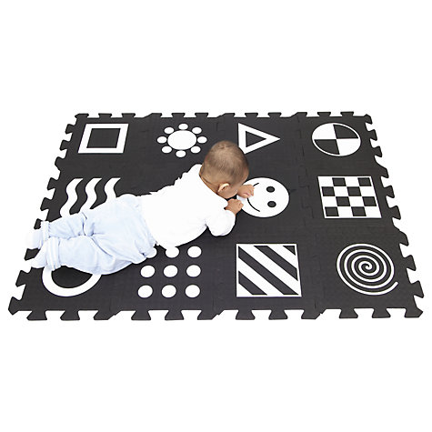 Buy Soft Play Zone Baby Development Play Mat, Black/White Online at johnlewis.com