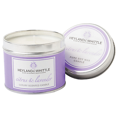 Heyland & Whittle Citrus and Lavender Candle Tin