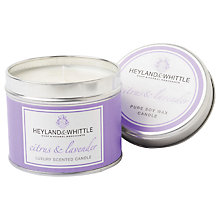 Buy Heyland & Whittle Citrus and Lavender Candle Tin Online at johnlewis.com