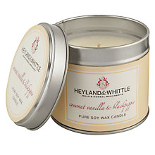 Buy Heyland & Whittle Coconut and Vanilla Candle Tin Online at johnlewis.com