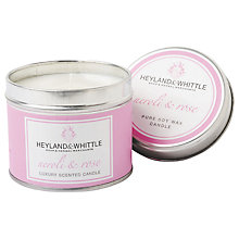 Buy Heyland & Whittle Neroli and Rose Candle Tin Online at johnlewis.com