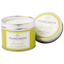 Buy Heyland & Whittle Olive and Fig Candle Tin Online at johnlewis.com