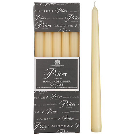 Buy Price's Dinner Candles, Pack of 10 Online at johnlewis.com