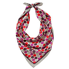 Buy John Lewis Spot Silk Square Scarf Online at johnlewis.com