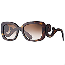 Buy Prada Women's Baroque Sunglasses, Tortoiseshell Online at johnlewis.com