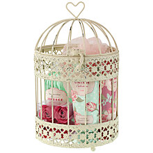 Buy Heathcote & Ivory Vintage Rose Birdcage Gift Set Online at johnlewis.com