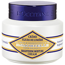 Buy L'Occitane Immortelle Brightening Moisture Cream, 50ml Online at johnlewis.com
