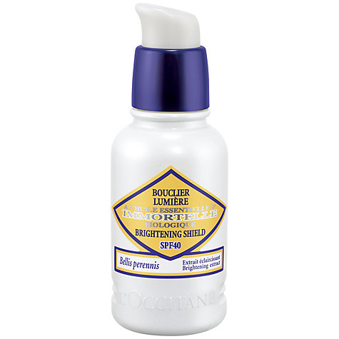 Buy L'Occitane Immortelle Brightening Shield SPF40, 30ml Online at johnlewis.com