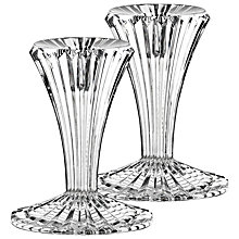 Buy Marquis by Waterford Crystal Bezel Candlesticks, Set of 2, H10cm Online at johnlewis.com