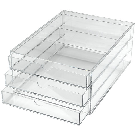 Buy Osco Acrylic 3 Drawer Papersorter Online at johnlewis.com