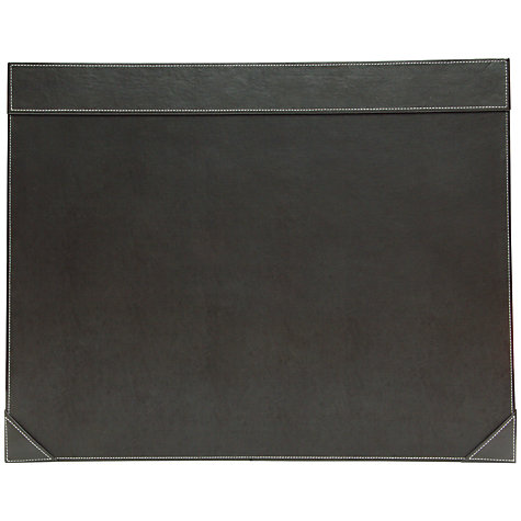 Buy Osco Full Demy Faux Leather Desk Mat Brown John Lewis