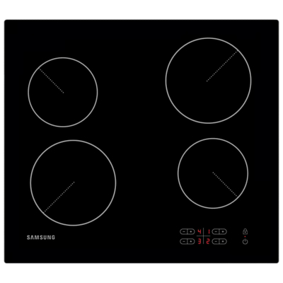 Samsung C61R2AEE Ceramic Hob, Black