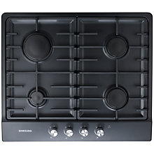 Buy Samsung GN642FFBD Gas Hob, Black Online at johnlewis.com