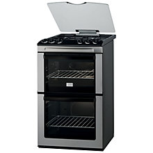 Buy Zanussi ZCG55QGX Gas Cooker, Stainless Steel Online at johnlewis.com