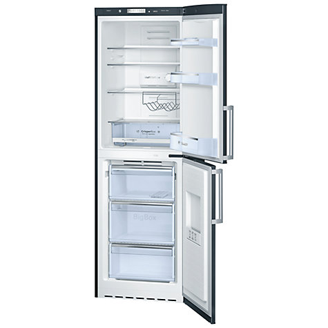 Buy Bosch KGN34VB20G Fridge Freezer, Black Online at johnlewis.com