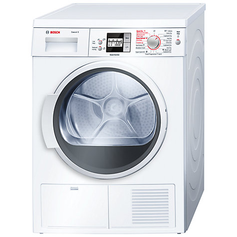 Buy Bosch WTS86500GB Sensor Condenser Tumble Dryer, 8kg Load, B Energy Rating, White Online at johnlewis.com