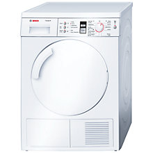 Buy Bosch WTV74309GB Sensor Vented Tumble Dryer, 8kg Load, C Energy Rating, White Online at johnlewis.com