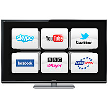 "Buy Panasonic Viera TX-P55VT50B Plasma HD 1080p 3D Smart TV, 55"", Freeview/Freesat HD with 2x 3D Glasses Online at johnlewis.com"