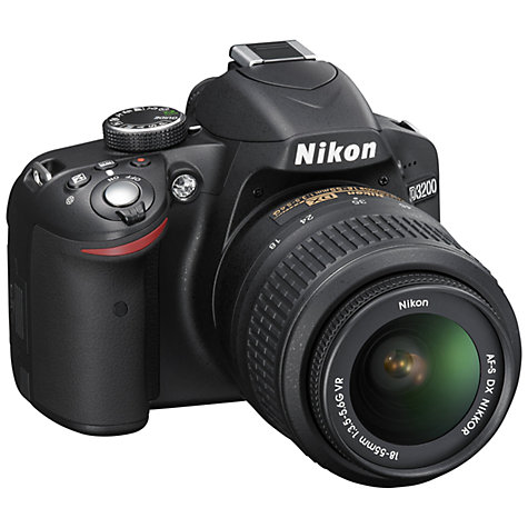 "Buy Nikon D3200 Digital SLR Camera with 18-55mm Lens, HD 1080p, 24MP, 3x Optical Zoom, 3"" LCD Screen Online at johnlewis.com"