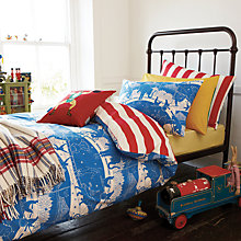 Buy Joules Circus Standard Pillowcase, Blue Online at johnlewis.com