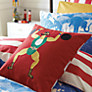Joules Strongman Circus Cushion, Red Multi