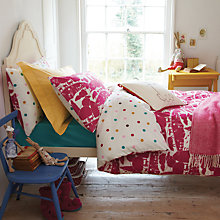 Buy Joules Piggy Farm Standard Pillowcase, Pink Multi Online at johnlewis.com