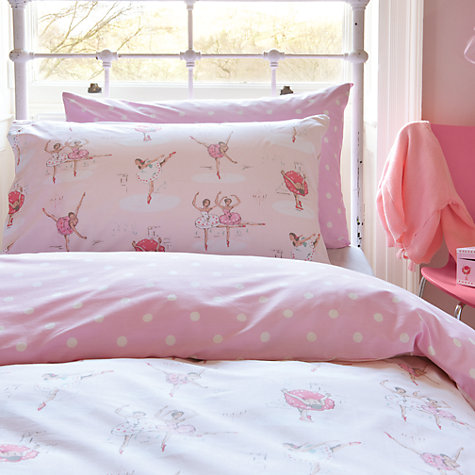 Buy Cath Kidston Ballet Single Duvet Cover, Pink Online at johnlewis.com