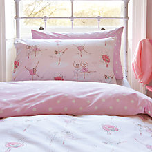 Buy Cath Kidston Ballet Standard Pillowcase, Pink Online at johnlewis.com