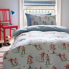 Buy Cath Kidston Footie Single Duvet Cover Set, Blue Online at johnlewis.com