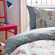 Buy Cath Kidston Footie Standard Pillowcase, Blue Online at johnlewis.com